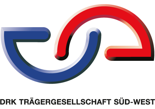 blau rotes Logo der DKR