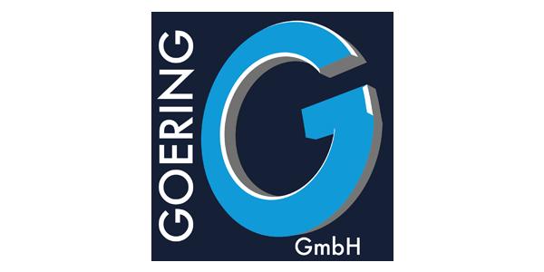 Logo der Goering GmbH mit großem blauen G in der Mitte