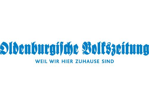 blaues Logo der Oldenburgischen Volkszeitung