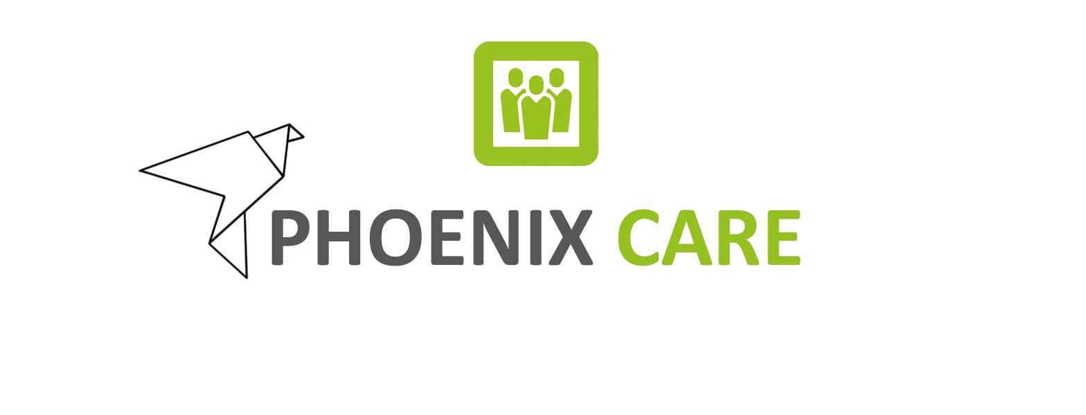 Logo Phoenix Care neu grün grau