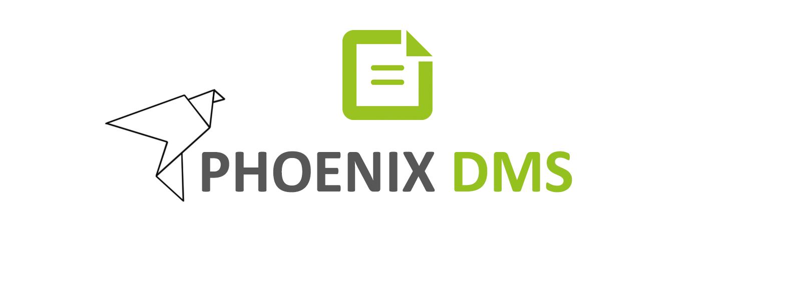 Logo Phoenix DMS neu grün grau