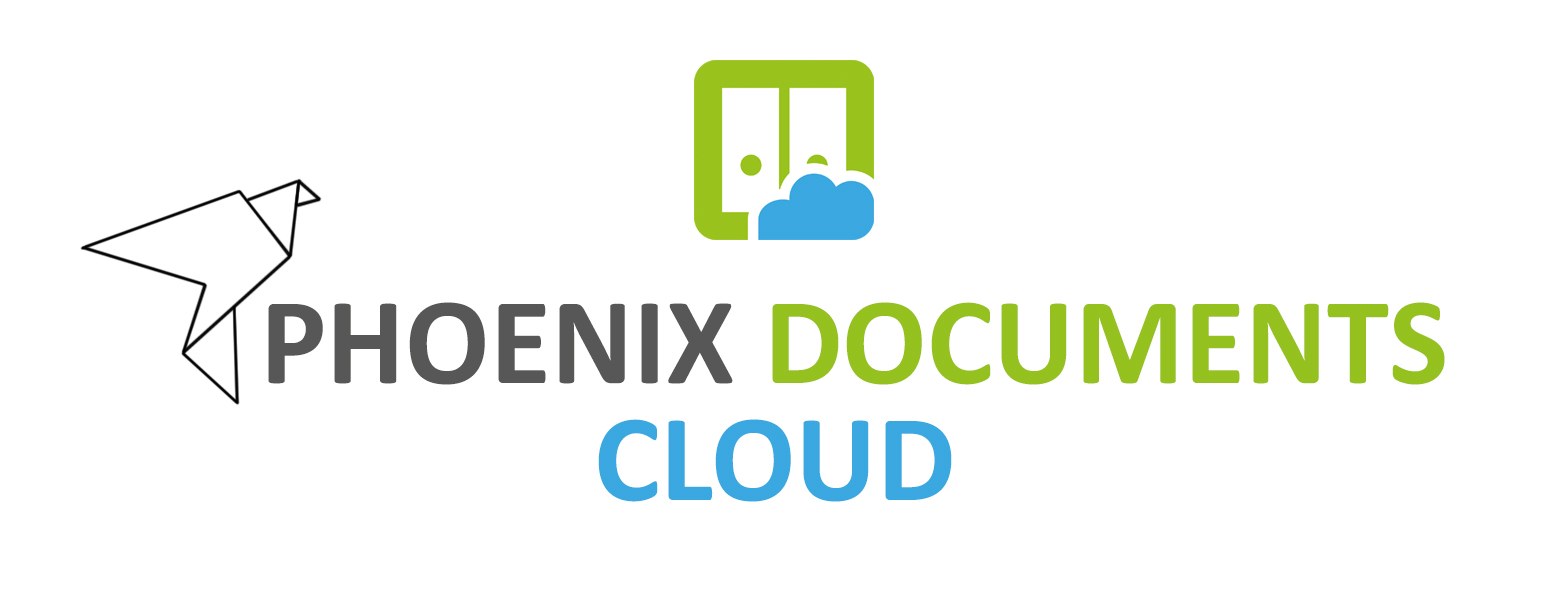 Logo Phoenix Documents Cloud neu grün grau blau