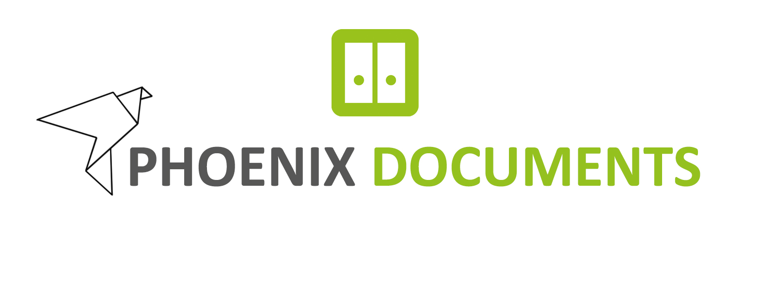 Logo Phoenix Documents neu grün grau