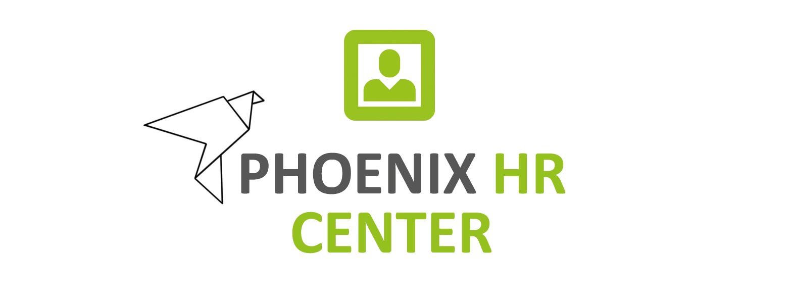 Logo Phoenix HR Center neu grün grau