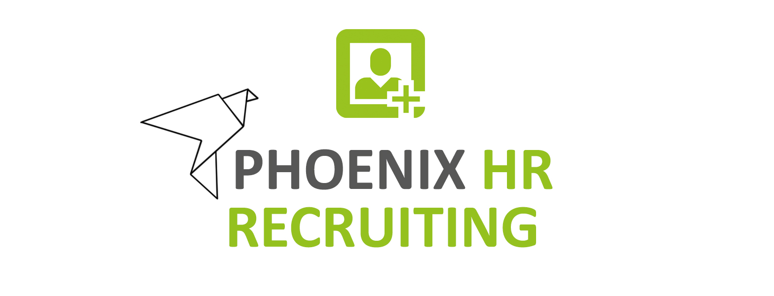 Logo Phoenix HR Recruiting neu grün grau