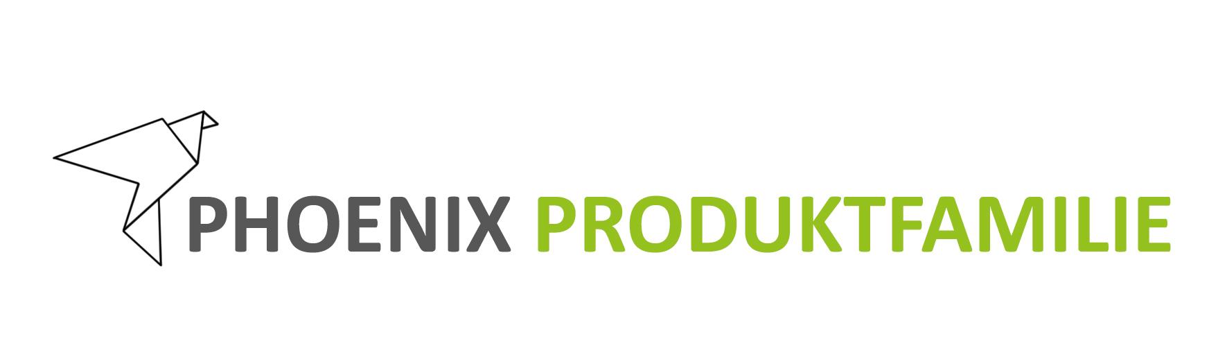 Logo Phoenix Produktfamilie neu grau grün