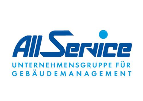blaues Logo von All Service