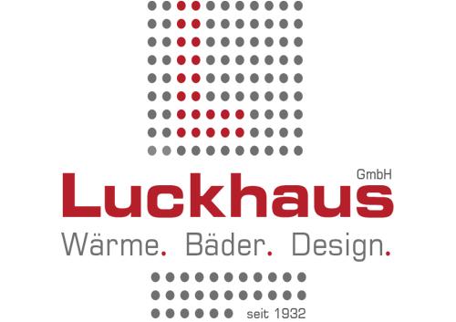rot graues Logo der Luckhaus GmbH