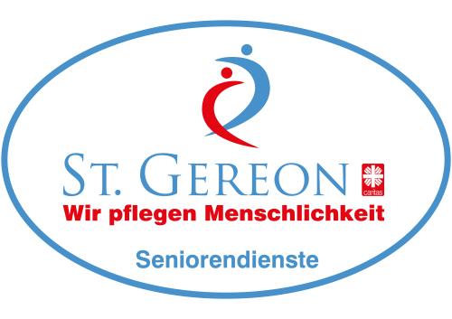 blau rotes Logo von St. Gereon